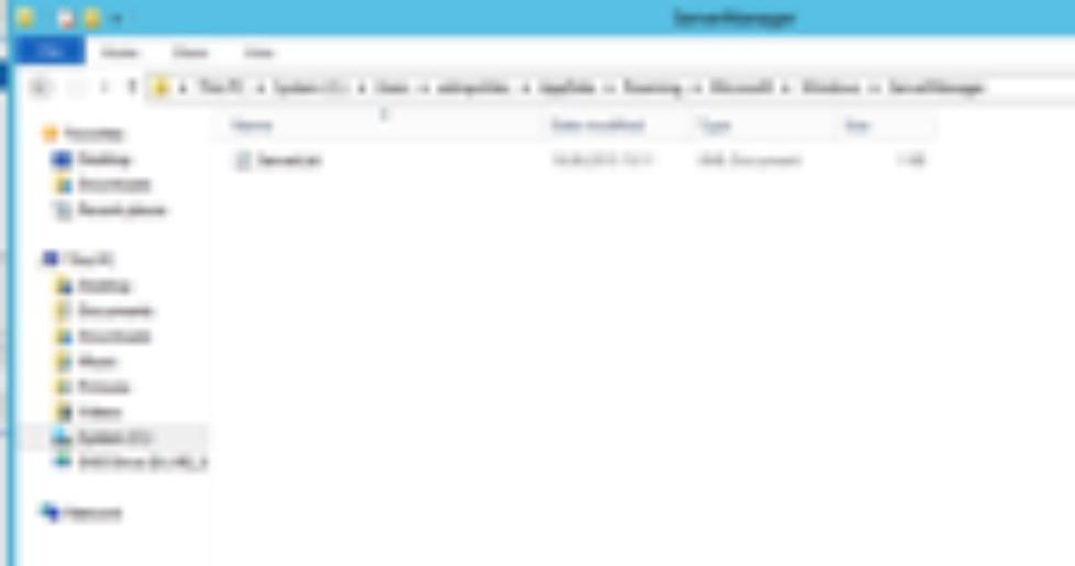 Server Manager Console Inhalte in Windows 2012 kopieren