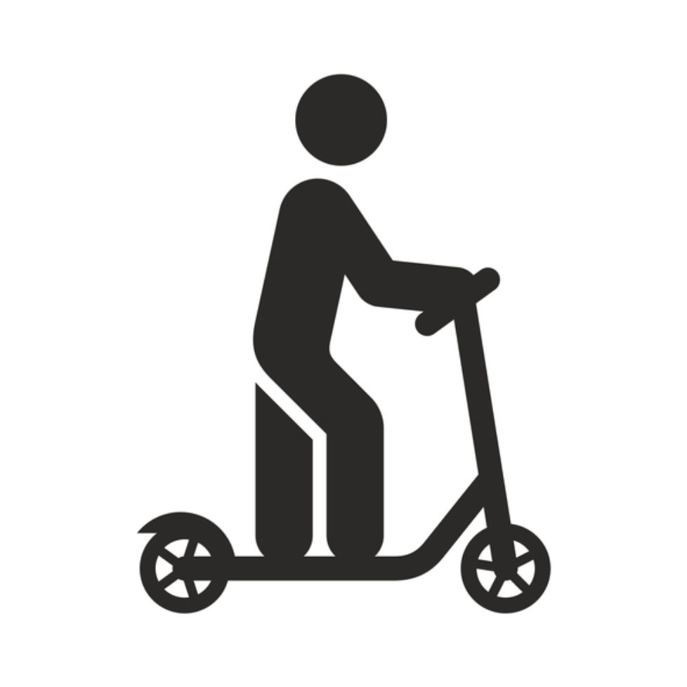 Electric scooter icon. E-scooter. Kick scooter.